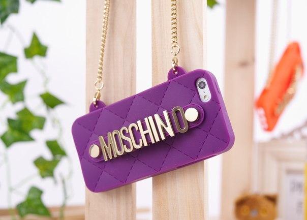 Силиконовый чехол Moschino Фиолетовый для IPhone 5