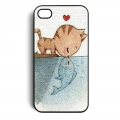 Cat Kiss Fish Кот целующий рыбку для IPhone 4/4s