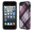 FabShell for iPhone 5   MegaPlaid Mulberry/Black чехол