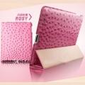 IPAD 2 /3 /4 New Ipad чехол тонкий кожаный Страус Ярко Розовый