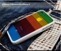 IPhone 4,4s Чехол радуга Белая