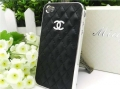 IPhone 4,4s чехол Шанель Черная с серебром