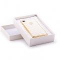 IPhone 4,4s чехол Шанель Белая с золотом