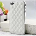 IPhone 4,4s чехол luxury чехол Белый с серебром