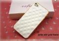 IPhone 4,4s чехол luxury чехол Белый с Золотом