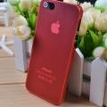 IPhone 4,4s чехол Ультратонкий 0.3мм мягкий пластик Красный
