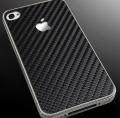 IPhone 4 carbon fiber black for all sides наклейка карбон черная