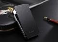 Iphone 4 4 s тонкий кожаный чехол флип fashion Черный