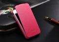 Iphone 4 4 s тонкий кожаный  флип fashion Розовый