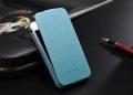 Iphone 4 4 s тонкий кожаный флип fashion Голубой