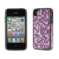 Iphone 4 4s  чехол Speck PixelParty Pink/Grey