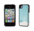 Iphone 4 4s  чехол Speck WinterWonderland Blue