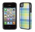 Iphone 4 4s  чехол  Speck HalfTone Plaid Blue/Yellow