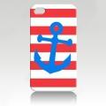 Iphone 4 4s чехол Якорь красно-белый ексклюзив