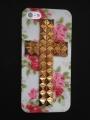 Iphone 4 4s чехол  Крест Cath kidston  + bronze