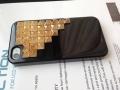 Iphone 4 4s чехол Pyramid style  Черный + bronze