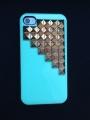 Iphone 4 4s чехол Pyramid style  Бирюза + bronze