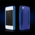 Iphone 4 4s чехол силиконовый More para collection Синий