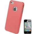 Iphone 4  4s накладка чехол Moshi Iglaze Светло-красный