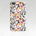 Iphone 5 чехол  тонкий пластиковый эксклюзив Узор цветков
