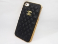 Iphone 5 чехол chanel black + gold
