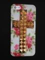 Iphone 5 чехол  Крест Cath kidston  + bronze