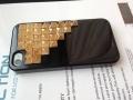 Iphone 5 чехол Pyramid style  Черный + bronze