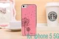 Iphone 5  чехол одуванчик Светло-розовый