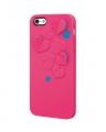 Iphone 5 чехол силиконовый kirigami heart красный