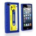 Iphone 5 чехол силиконовы кассета ретро Синяя