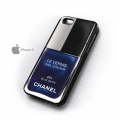 Iphone 5 чехол лак Chanel 461 blue satin