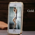 Iphone 5 Золотой gold bumper with diamond swarovski бампер с кам