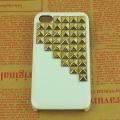 Iphone 5 чехол Pyramid style  Белый + bronze