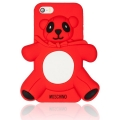 ехол Moschino Agostino Panda красный для iPhone 4/4s