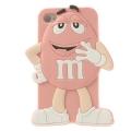 чехол 3D M&M's  Св Розовый на iPhone 5/5S