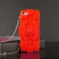 чехол Chanel Lego Red Красный для IPhone 5/5s Силиконовый