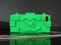 чехол Chanel Lego Green Зеленый для IPhone 5/5s