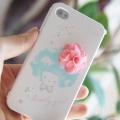 Чехол Happymori Pink Flower Girl Розовый цветок для IPhone 4/4s