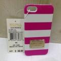 чехол Michael Kors Striped Розовый с белым для IPhone 5/5s