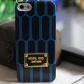 чехол Michael Kors Striped Glossy Голубой для IPhone 5/5s