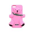 чехол Moschino Bear Светло Розовый для Iphone 4/4s  Силиконовый