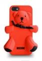 чехол Moschino Bear Красный для Iphone 4/4 Силиконовый