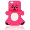 чехол Moschino Agostino Panda ярко розовый для iPhone 5/5s