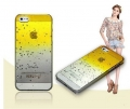 чехол Raindrop Капли Дождя Желтый для IPhone 5/5s