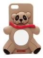 чехол Moschino Agostino Panda коричневый для iPhone 5/5s