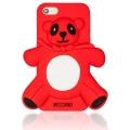 чехол Moschino Agostino Panda красный для iPhone 5/5s