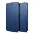 кожаная Spigen Ultra Flip Синий для IPhone 5/5s