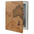 Карта мира Ультра-тонкий чехол для iPad 2 и iPad 3 Коричневый