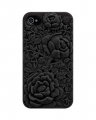 Чехольчик SweatchEasy Blossom на iPhone 4S, черный Цветок Blosso