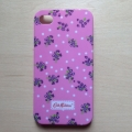 Чехол пластиковый Cath Kingston Розы малиновые для IPhone 4/4s